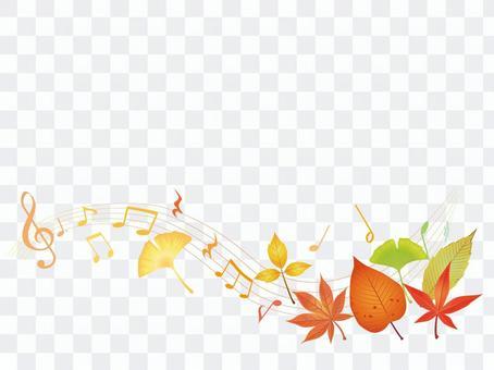 Autumn leaves · autumn leaves streamline note frame 01