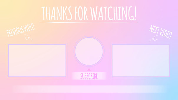 Pastel gradient background end card A full HD