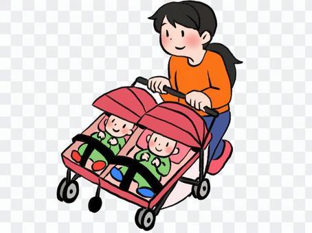雙人嬰兒車