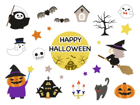 Halloween hand-painted parts set