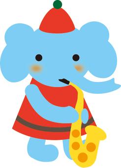 大象吹薩克斯管