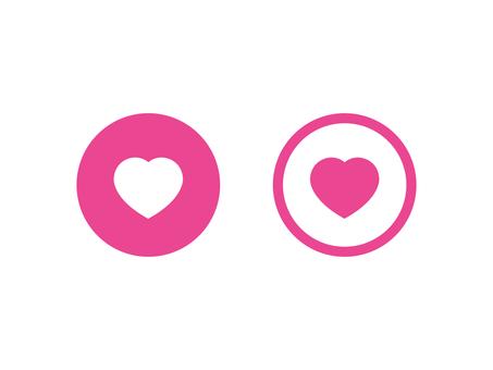 Heart's favorite button set: color