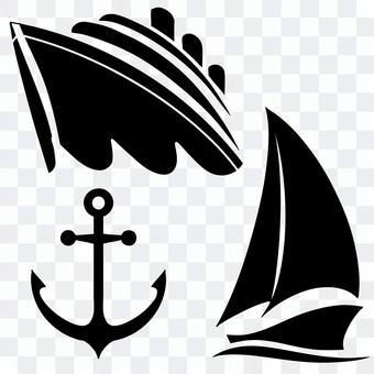 海の乗り物セット