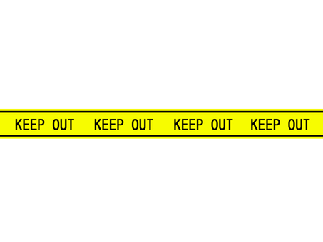 KEEP OUT 테이프