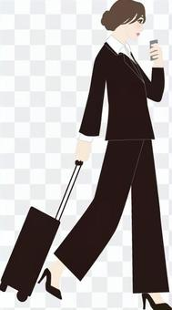 Carryback business woman