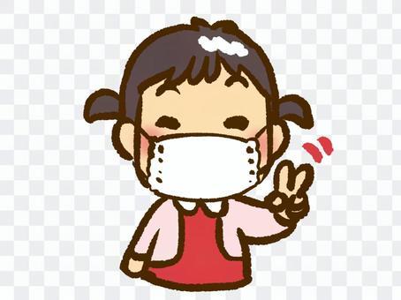 一個面具的女孩