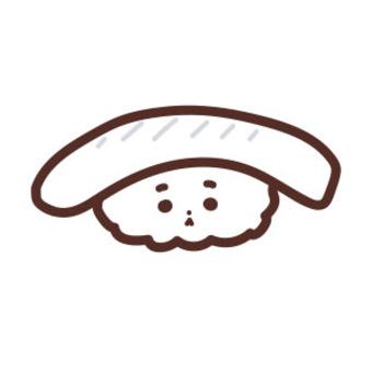 イカの寿司のイラスト
