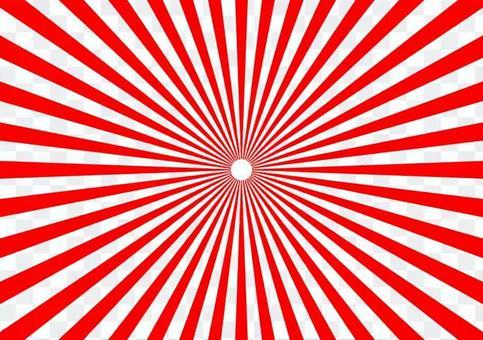 방사선 파괴 빨간색과 흰색