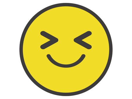 可愛的微笑標記的插圖