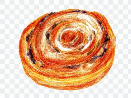 德國麵包15(彩色鉛筆素描)