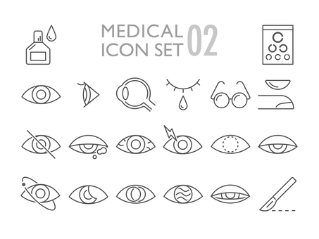 Medical icon set ophthalmology