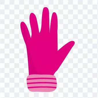 粉紅色的手套