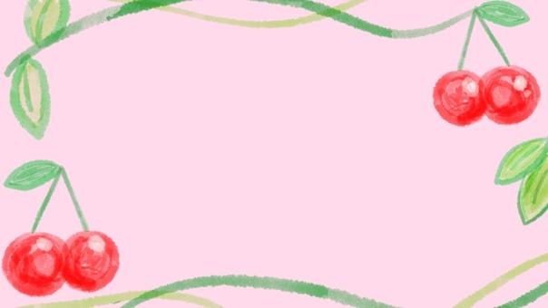 Background cherry frame pink