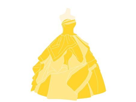 黃色連衣裙
