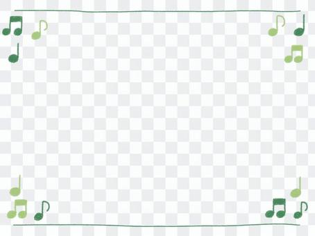 Crayon frame with green ounces