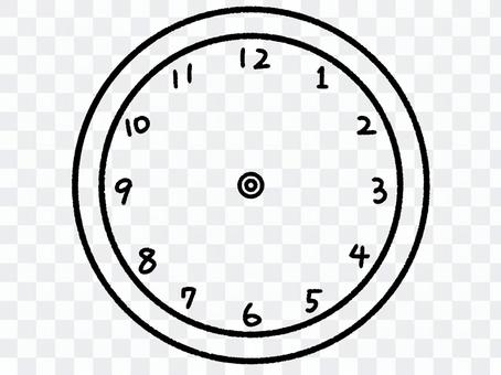 Clock without hands (colorless)