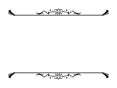Vintage top and bottom frame (black)