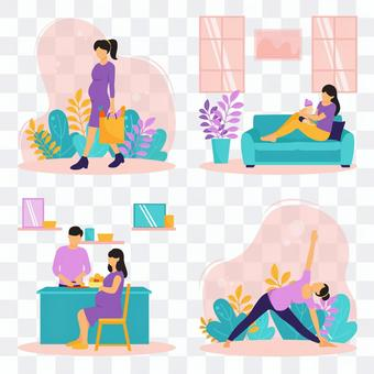 Pregnant women's daily life