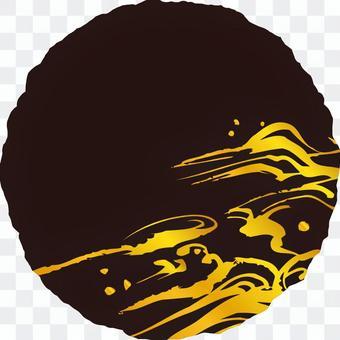 粗糙的圓圈b_ravel _黑_金_v 8