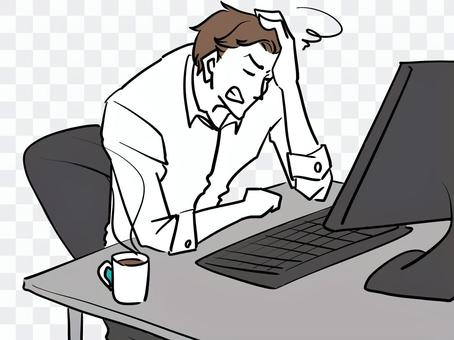 一個看到股市崩盤後感到沮喪的人