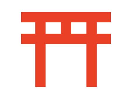 簡易神社牌坊圖標 B:紅色