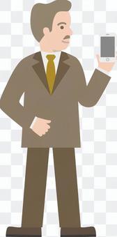 一位商人與智能手機