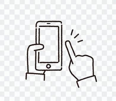 智能手機操作線圖