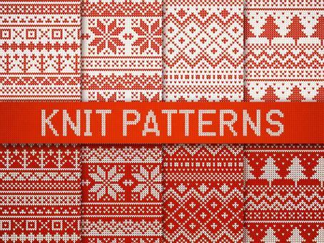 針織風格北歐花紋