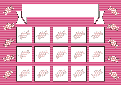 24 stamp card_candy / pink