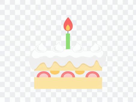 生日蛋糕(1支蠟燭)