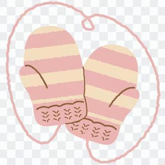 紗手套(粉紅色