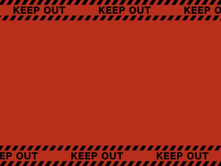 紅虎膠帶框架:KEEP OUT