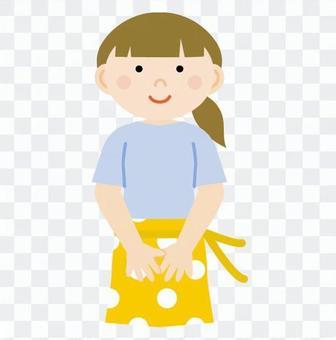 A woman who had an apron