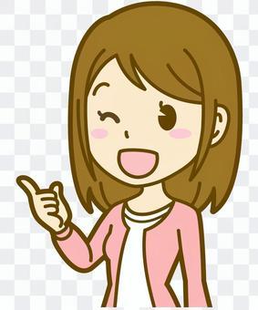 女人(普通衣服):A_point 05BS