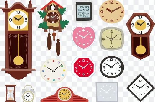 內部設置的各種手錶
