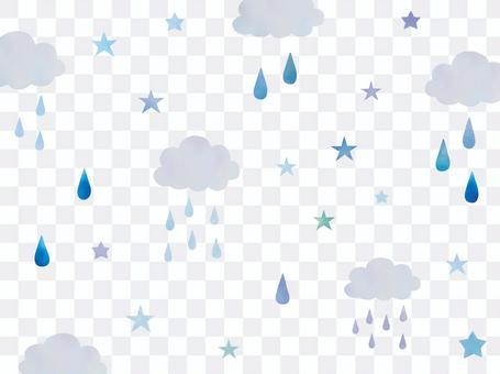 烏雲和水滴和恆星背景