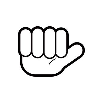 """簡單的手指字符圖""""A"""""""