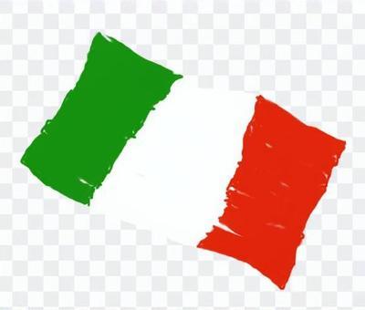 手寫的意大利國旗