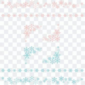 Snow Crystal Line & amp; Corner