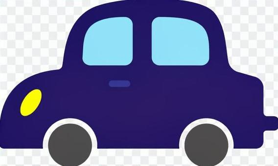 A車側身藍色