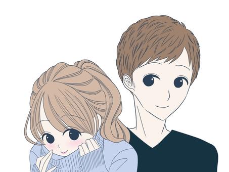 情侶 (藍色 x 黑色)