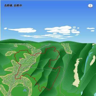 長野県 長野市 県庁所在地 境界線 北