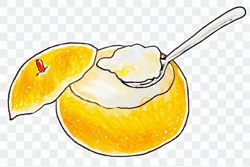 蒸梨和勺子