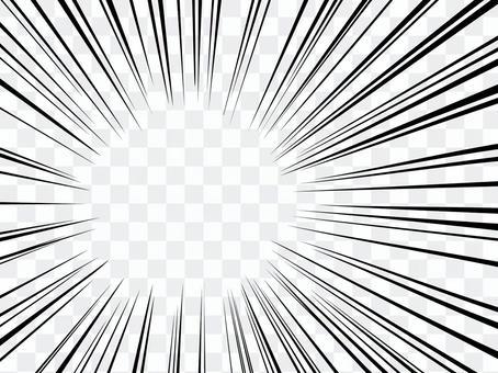 背景線效果線輻射簡單線描