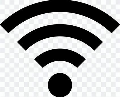 Wi-Fiマーク(黒)