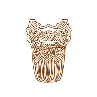 Jomon pottery_line only