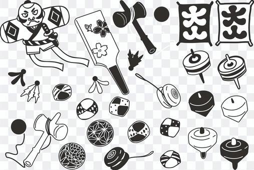 曾幾何時玩具黑色白色