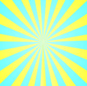 輻射閃光淺藍色黃色
