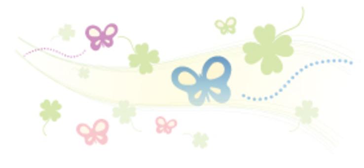 나비와 클로버 _ 장식 괘