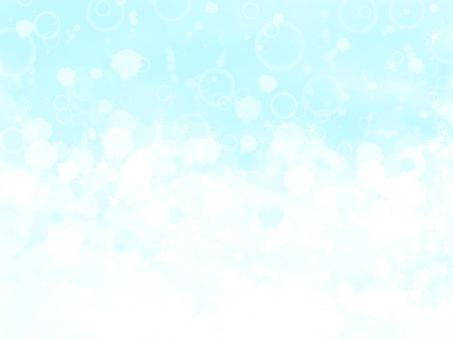 Cool blue and glitter like soda water